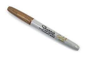Marcador Sharpie Fine Metalic Oro