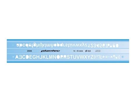 Letrografo Plantec inyectado 6 mm