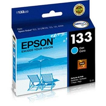 Cartucho Epson t133 cyan t22/420w/tx320f/22/25/tx120/125/