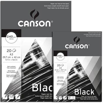 Block Canson black A4 240 gramos 20 hojas