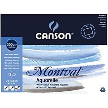Block Canson montval gf 24 x 32 300 gramos 12 hojas