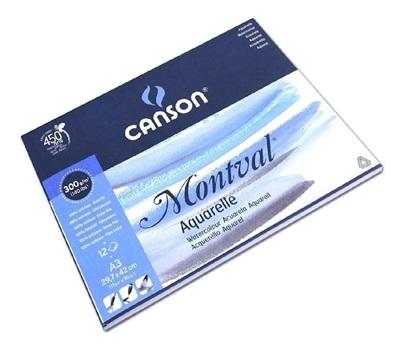 Block Canson montval gf A3 300 gramos 12 hojas