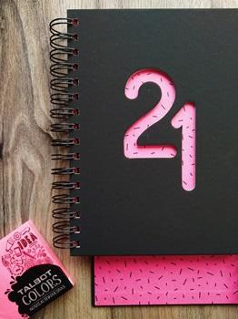 Agenda 2022 Cangini N 7 Dia Shine Rosa Espiral