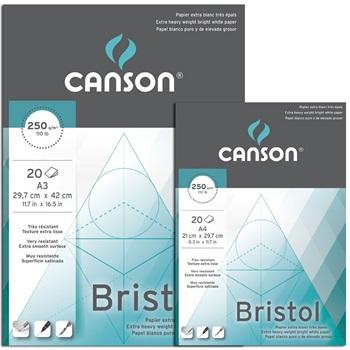 Block Canson bristol A3 250 gramos 20 hojas