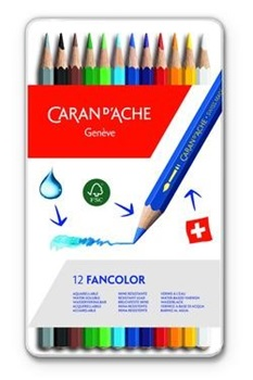 Lápiz color Caran Dache fancolor x 12