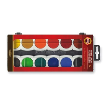 Acuarela Kohinoor x 12 colores profesional