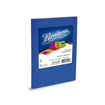 Cuaderno Rivadavia 21 x 27 abc espiral c azul 60 hojas