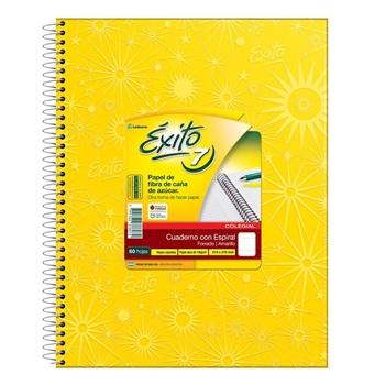Cuaderno Exito 21 x 27 espiral amarillo r