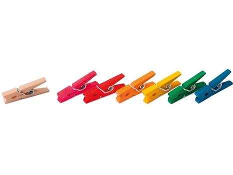 Broche ropa madera mediano color (36)