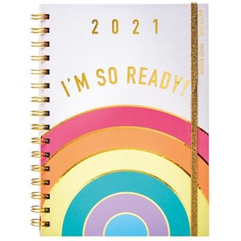 Agenda 2021 Mooving N 8 golden rainbow espiral semanal