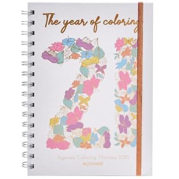 Agenda 2021 Mooving N 8 coloring espiral semana