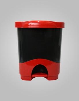 Cesto papel plástico Liggo 16lts c/pedal bicolor