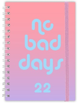 Agenda 2022 Cangini N 7 Semana No Bad Days Rosa Troquel Esp