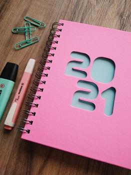 Agenda 2022 Cangini N 7 Semana Pastel Rosa Espiral