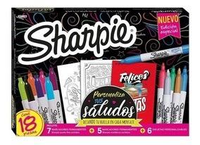 Marcador Sharpie Fine X 12 + 6 Tar Saludos