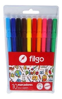 Marcador Filgo x 10 colores