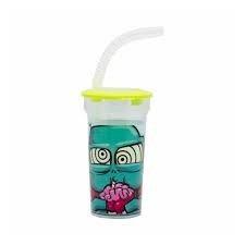 Zombie vaso plástico con sorbete