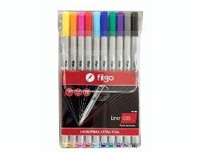 Marcador Filgo microfibra 0,4 x 10 colores
