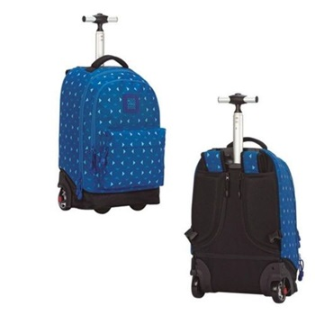 Mochila Mooving con carro orlando azul