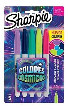 Marcador Sharpie fine x 5 colores cosmicos