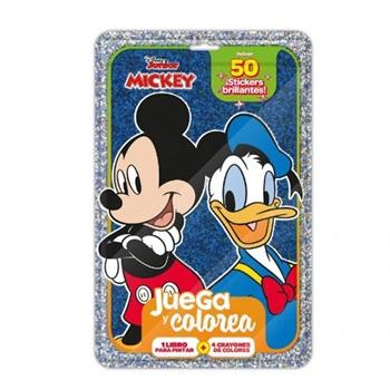 Set Vertice Juega Y Colorea Mickey