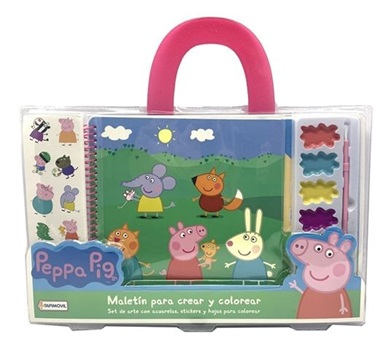 Set Tapimovil Maletin Peppa Pig Crear Y Colorear