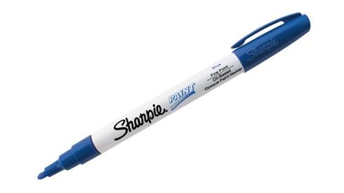 Marcador Sharpie paint pintura fino azul