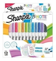 Marcador Sharpie s-note al agua x 12 pack exhibidor