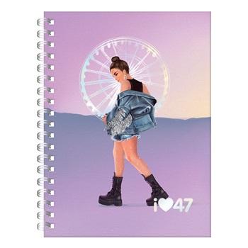 47 Street cuaderno 16 x 21 con espiral